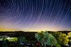 Startrails  - over the Britanica Park - smaller