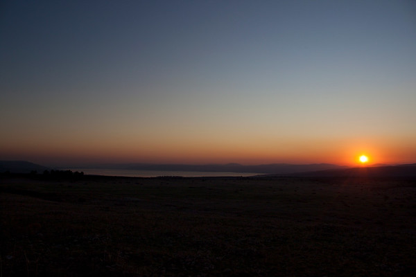 Sunset from Katzrin over the Kinneret