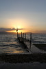 Dock on the Kinneret at sunset