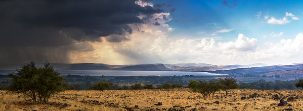 Storm over the Kinneret and Golan