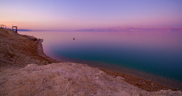 Evening over the Dead Sea - Panorama