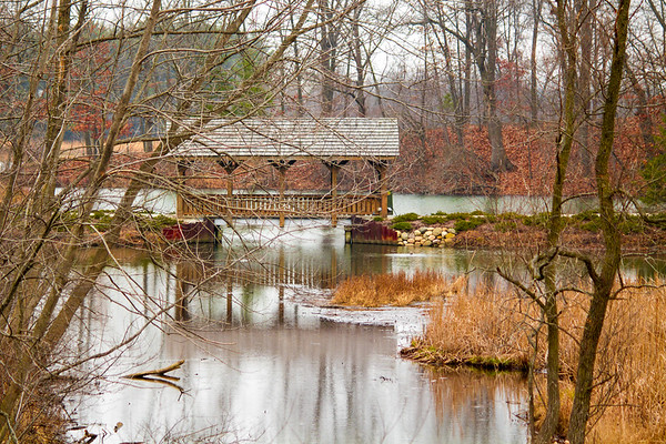 Covered bridge over river Indiana - 3 - reversed