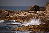 Caesarea - Ruins and Crashing Waves on the Rocks
