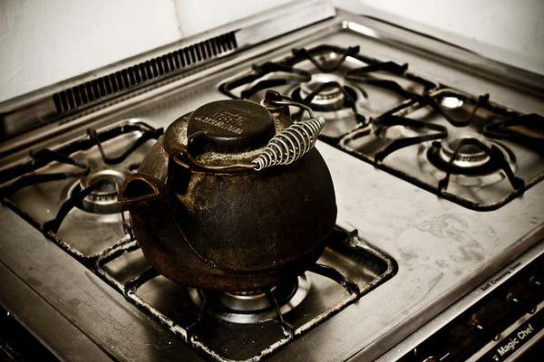 Old kettle on stove - 3
