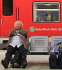 Train Passengers - Frankfurt Germany