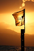 Flag with sun behind - Ein Gev