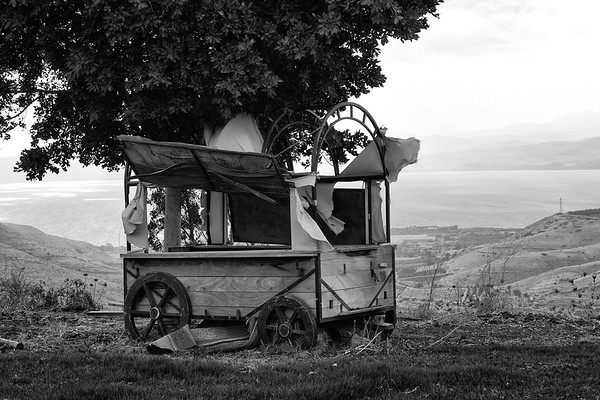 Old wagon - B-W