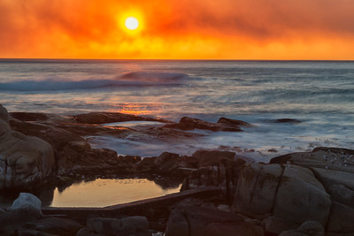 sunset in Sea Point, Cape Town, Western Cape, South Africa