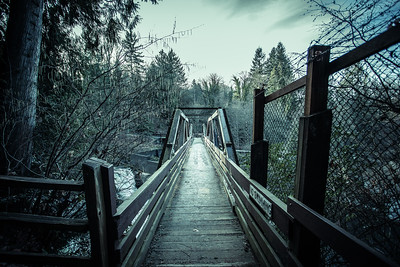 Bridge over Tumwater Falls