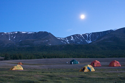 Sunset at Khoton Nuur Camp, NW Mongolia