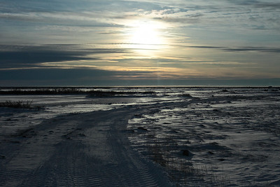"Sunset on the tundra at Churchill, Manitoba, ""Polar Bear Capital of the World."""