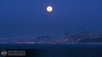 (Perigee) Full Moon rising over San Francisco at 15 degrees Tropical Scorpio. Saturday, May 5, 2012 at 8:28 PM.
