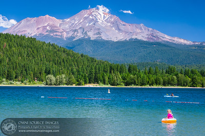 Lake Siskiyou and Mt Shasta
