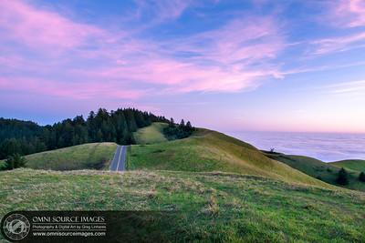 Mt Tamalpias West Ridge Road Sunset