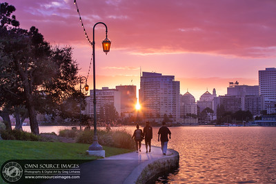 Lake Merritt Oakland Sunset