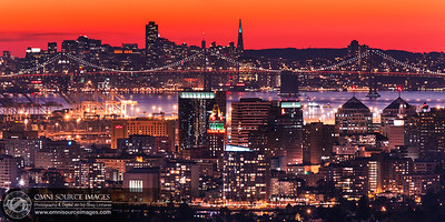 Oakland-San Francisco Skyline