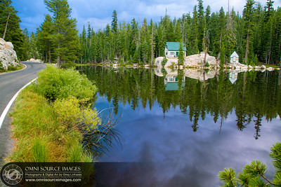 Mosquito Lake Sunrise Reflections - Stanislaus National Forest - Hwy 4 Ebbett's Pass Scenic Byway.