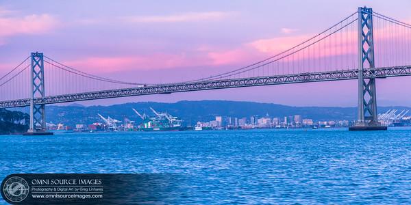 Port of Oakland Under SF Bay Bridge