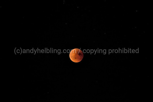 Eclipse of the moon / blood moon, Lucerne 27.7.2018