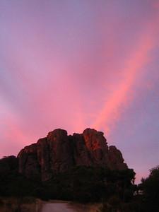 Sunset over bard butress