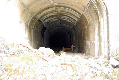 Old train tunnel.  Very cool breeze that whipps through here.