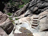 ROCK STAIRS<br /> Now here's some nice rockwork, blending right into the native rock.