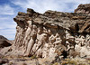 """HOODOO BACKSIDE<br /> We're now moving around the other side of the hoodoo to see if it's as dramatic as the other one, but it doesn't have that architectural feel. Still, it has some quite dramatic sculpting of its own. (And, yes, I did walk out to the end of the """"pulpit"""" in case you're wondering.)"""