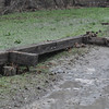 Washed out railroad tie railing