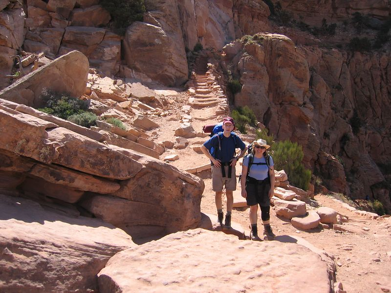 Paul and Kelly on the S. Kaibab