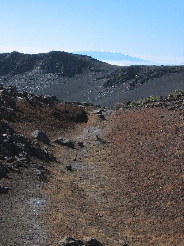 start of the hike with Mauna Kea in the background.