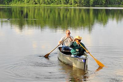 Loon eyeing a suspicious canoe...