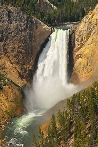 Lower Falls of the Yellowstone River.  Taken from the North Rim of the canyon