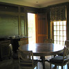 dining room.  There were 2 identical round tables as seating in the room.