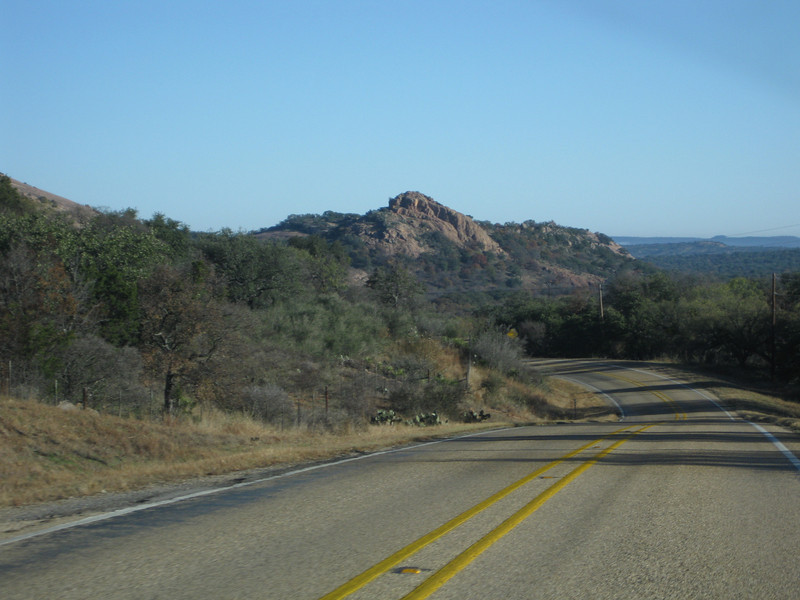 Coming to Enchanted Rock.  This is actually a small ridge in front of it.
