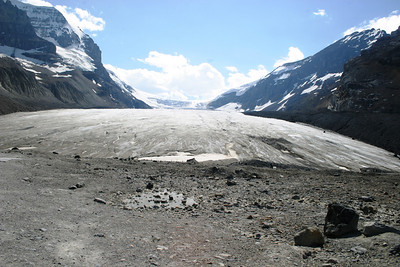 "Athabasca glacier is on a ""Triple Continental Divide""- The ONLY place on earth where, from there, rivers feed the Pacific, Atlantic and Arctic oceans."