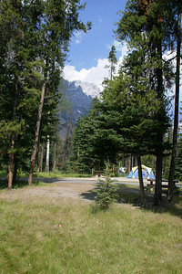 The view from our campsite in Banff Tunnel Mountain Village 1  Campsite E41