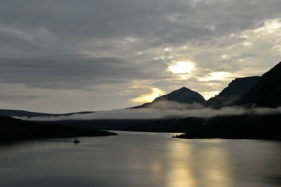Saint Mary Lake at Sunrise, Glacier National Park.