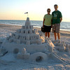 Vadis and John by Indian Rocks beach sand castle