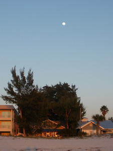 Moon over Indian Rocks beach houses