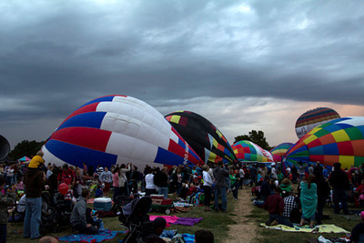 Balloon glow inflation, September 16, Forest Park