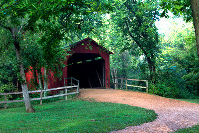 Sandy Creek Covered Bridge, August 7, Jefferson County, Missouri