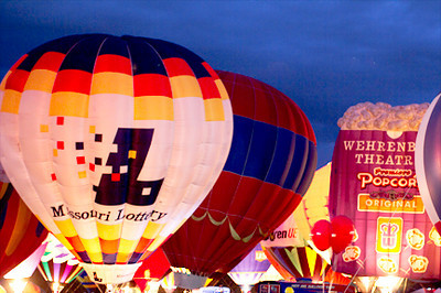 Balloon glow, September 16, Forest Park
