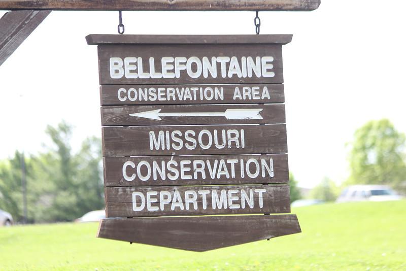 April 7, 2012 (Bellefontaine Conservation Area [entrance] / Bellefontaine Neighbors, Saint Louis County, Missouri) -- Entrance signage