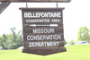 April 7, 2012 (Bellefontaine Conservation Area [entrance] / Bellefontaine Neighbors, Saint Louis County, Missouri) -- Entrance signage