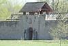 April 20, 2013 (Fort du Chartres [front gate] / Prairie du Roche, Randolph County, Illinois) -- Fort du Chartres gate