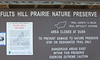 April 20, 2013 (Fults Hill Prairie Nature Preserve [entrance signage] / Fults, Monroe County, Illinois) -- Entrance