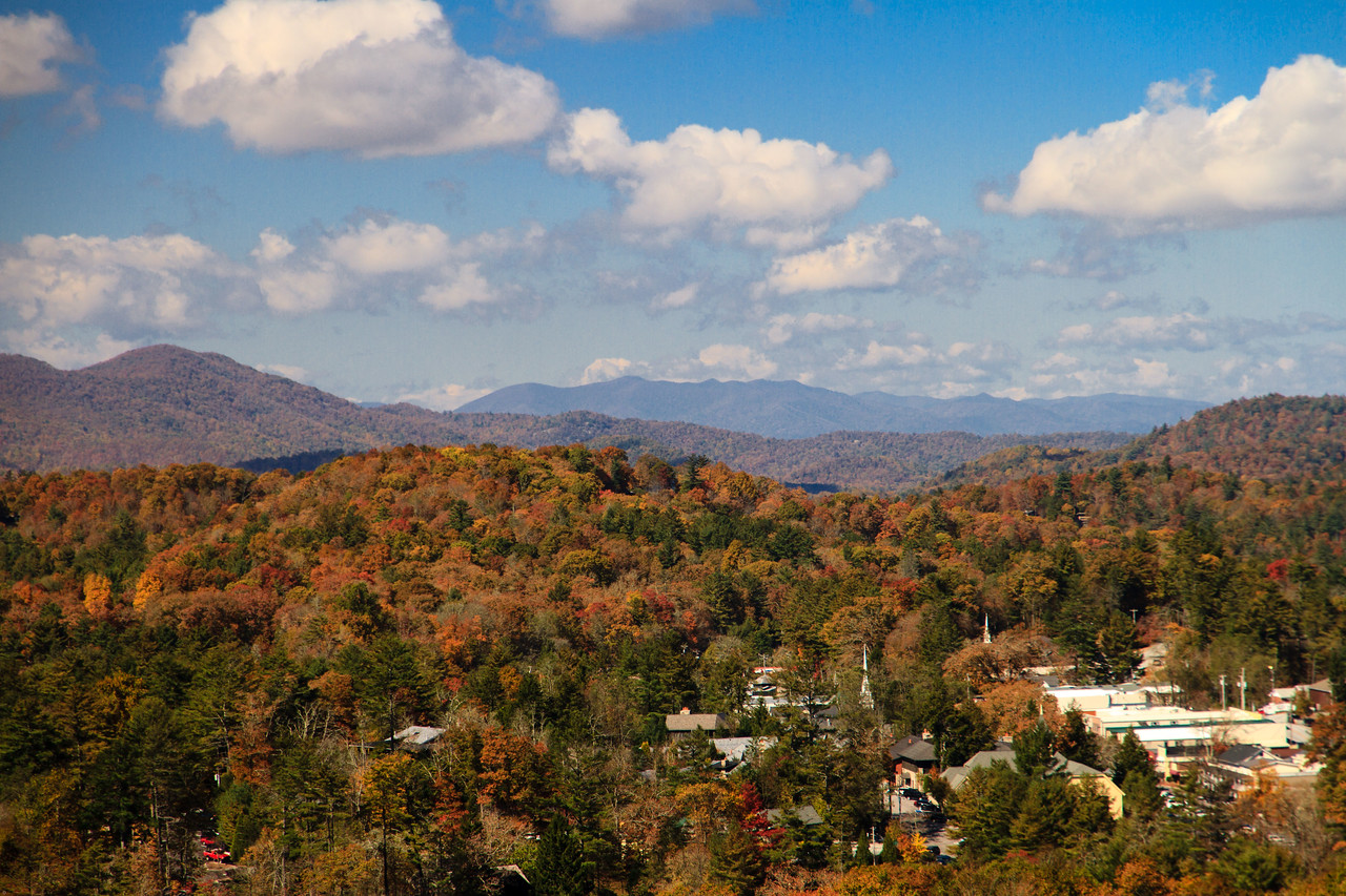 Highlands NC from Sunset Rocks