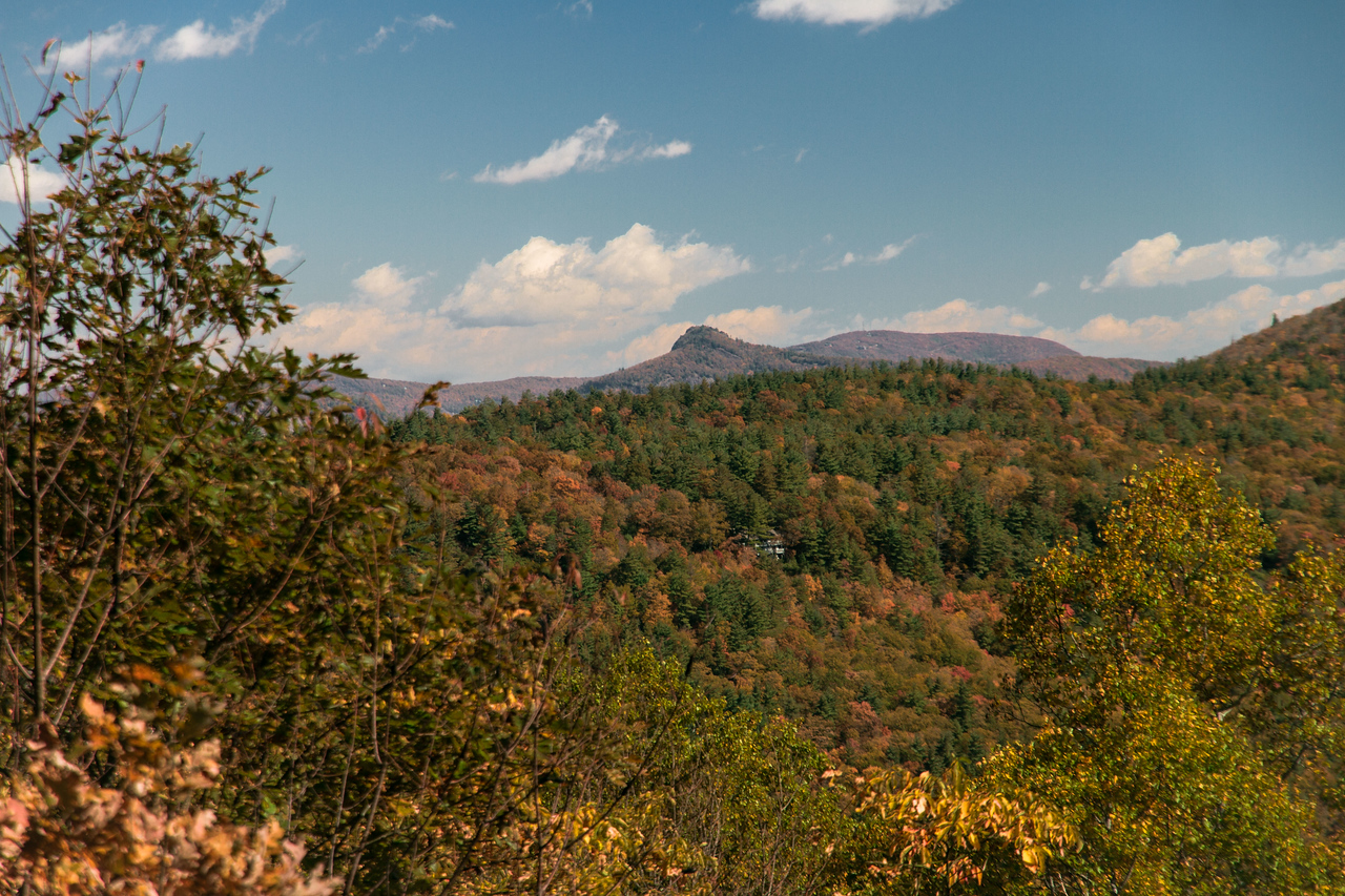 Chimneytop Mtn. from Sunset Rocks NC