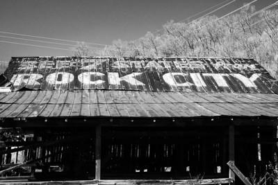 Old rock city barn near Robbinsville NC
