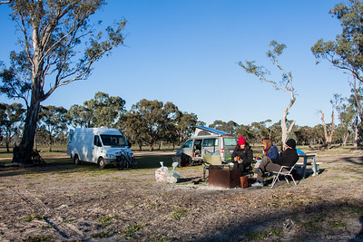 Van life at Wonga camp ground Wyperfeld np